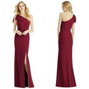 After Six One Shoulder Bridesmaid Trumpet Dress